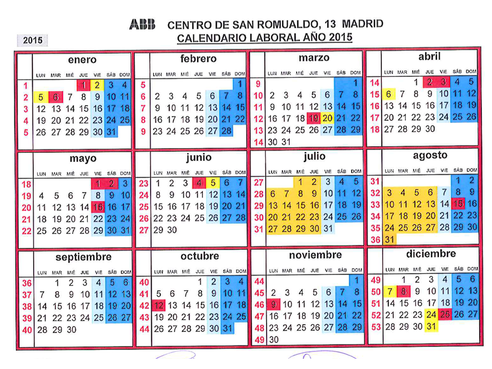 Calendario laboral madrid 2010 tattoo design bild for Calendario eventos madrid